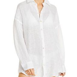 Playa Linen Shirt Dress Swim Cover-Up   Bloomingdale's (US)