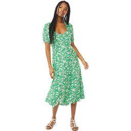 Scoop Women's Square Neck Midi Dress with Short Sleeves | Walmart (US)