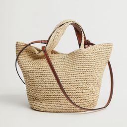 Raffia shopper bag | MANGO (US)