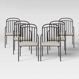 Farmhouse 6pk Patio Dining Chair Linen - Threshold™ | Target