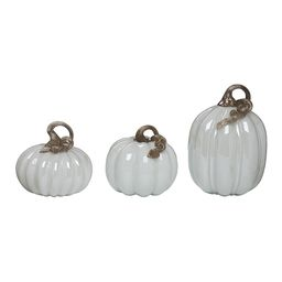 Glass White Pumpkin Set | zulily