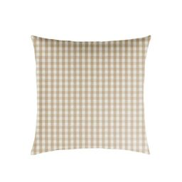 Plaid Outdoor Throw Pillow Beige/White | Target