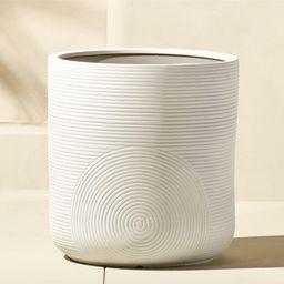 Zen Large White Planter + Reviews   CB2   CB2