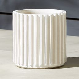 Lineal Large Cylindrical Planter + Reviews   CB2   CB2