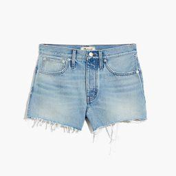 Relaxed Denim Shorts in Rosemount Wash: Destroyed Hem Edition   Madewell