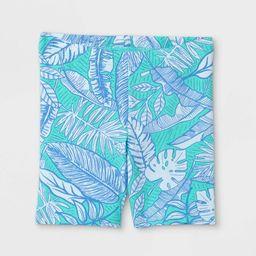 Toddler Girls' Tropical Floral Bike Shorts - Cat & Jack™ Mint Green | Target