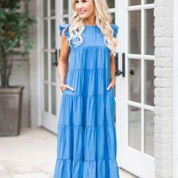 Lara Dress- Blue | Avara
