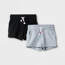 Toddler Girls' 2pk Pull-On Shorts - Cat & Jack™ Black/Gray | Target