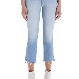 MOTHER The Insider High Waist Crop Step Fray Hem Bootcut Jeans | Nordstrom | Nordstrom