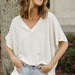 Paige Textured Oversized Top | Dress Up