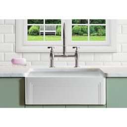 "Retta 33"" L x 18"" W Farmhouse Kitchen Sink With Grid and Strainer   Wayfair North America"