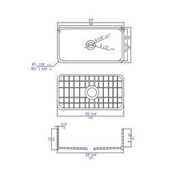"ABF3318S-W Fireclay 33"" L x 18"" W Farmhouse/Apron Kitchen Sink   Wayfair North America"