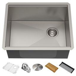 "KWU111-23 Kore 23"" L x 19"" W Undermount Kitchen Sink with Drain Assembly Strainer   Wayfair North America"