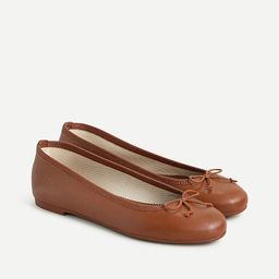 Classic unstructured leather ballet flats | J.Crew US