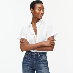 Classic-fit short-sleeve lightweight cotton poplin shirt   J.Crew US