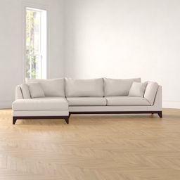 "Lilyanna 120"" Wide Left Hand Facing Sofa & Chaise | Wayfair North America"
