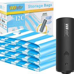 VMSTR Travel Vacuum Storage Bags with Electric Pump, Medium Small Space Saver Bags for Travel and...   Amazon (US)