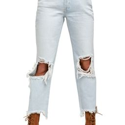 Maggie Ripped Crop Straight Leg Jeans   Nordstrom