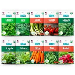 Back to the Roots Organic Beginner's Vegetable Garden Seeds Variety (10-Pack)-50064 - The Home De... | The Home Depot