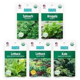 Back to the Roots Organic Leafy Greens Vegetable Seeds Variety (5-Pack)-50072 - The Home Depot | The Home Depot