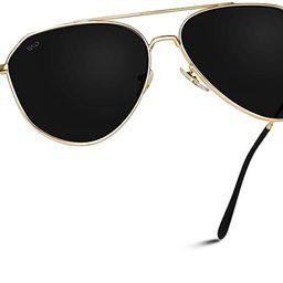 WearMe Pro - Polarized Premium Designer Inspired Medium Metal Frame Aviator Sunglasses - Modern D...   Amazon (US)