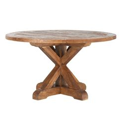 Home Decorators Collection Cane Bark Round Dining Table, Brown   The Home Depot