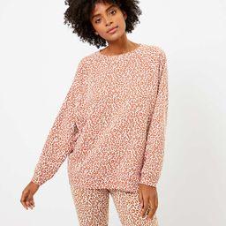 Lou & Grey Leopard Print Oversized Terry Sweatshirt | LOFT