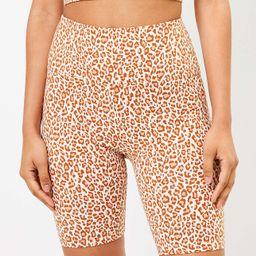 Lou & Grey Leopard Print Terry Bike Shorts | LOFT