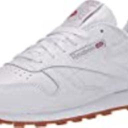 Reebok Women's Classic Leather Sneaker, White/Gum | Amazon (US)