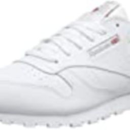 Reebok Classic Leather Sneaker, White, 5.5 US Unisex Big Kid | Amazon (US)