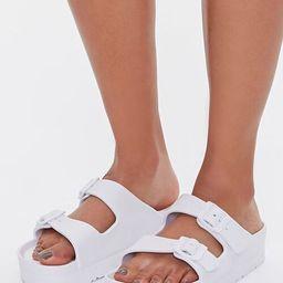 Buckled Flatform Sandals | Forever 21 (US)