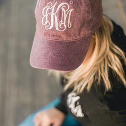 Monogram Hat Womens Personalized Baseball Cap D2 B59 | Etsy | Etsy (US)