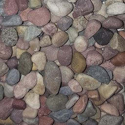 Butler Arts 0.50 cu. ft. 40 lb. 1/2 in. Pami Multi-Color Decorative Landscaping Pebble   The Home Depot