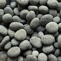 Cascade Stoneworks 0.64 cu. ft. 50 lbs. 1 in. to 2 in. Black Smooth Lava Pebble for Landscaping and    The Home Depot