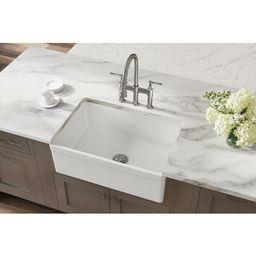 "SWUF28179WH Elkay Fireclay 30"" L x 20"" W Farmhouse Kitchen Sink | Wayfair North America"