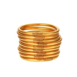 Gold All Weather Bangles® (AWB®) - Serenity Prayer   BuDhaGirl