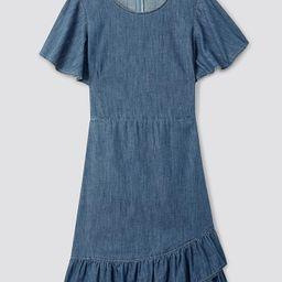 Chambray Faux Wrap Dress | Draper James (US)