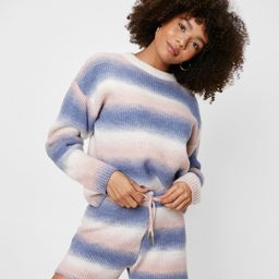 Ombre Knitted Sweater and Shorts Lounge Set   NastyGal