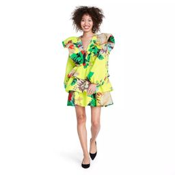 Floral Long Sleeve Ruffle Dress - Christopher John Rogers for Target Yellow   Target
