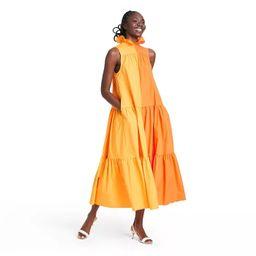 Sleeveless Ruffle Two-Tone Tiered Dress - Christopher John Rogers for Target Orange   Target