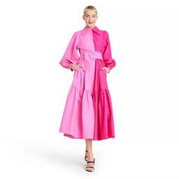 Long Sleeve Two-Tone Shirtdress - Christopher John Rogers for Target Pink   Target