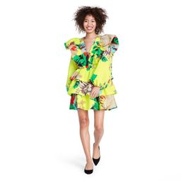 Floral Long Sleeve Ruffle Dress - Christopher John Rogers for Target Yellow | Target