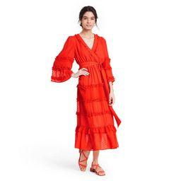Angel Sleeve Tiered Ruffle Dress - ALEXIS for Target Dark Orange | Target