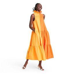 Sleeveless Ruffle Two-Tone Tiered Dress - Christopher John Rogers for Target Orange | Target