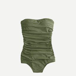 Long torso ruched bandeau one-piece swimsuit | J.Crew US