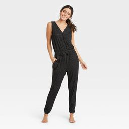 Women's Perfectly Cozy Lounge Jumpsuit - Stars Above Dark Gray M | Target
