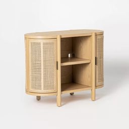 Portola Hills Caned Door Console with Shelves - Threshold™ designed with Studio McGee | Target