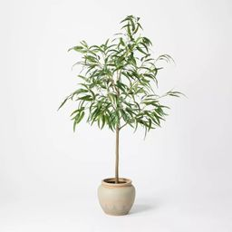 """73"""" Artificial Weeping Eucalyptus Tree in Pot - Threshold™ designed with Studio McGee 