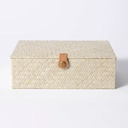 "3.5"" x 10"" Pandan Zig-Zag Woven Box - Threshold™ designed with Studio McGee | Target"
