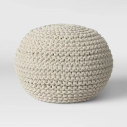 Cloverly Chunky Knit Pouf - Threshold™ | Target